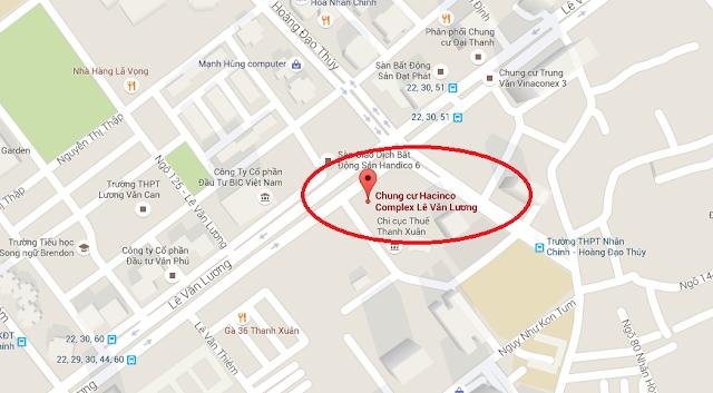 vị trí chung cư hacinco complex lê văn lương