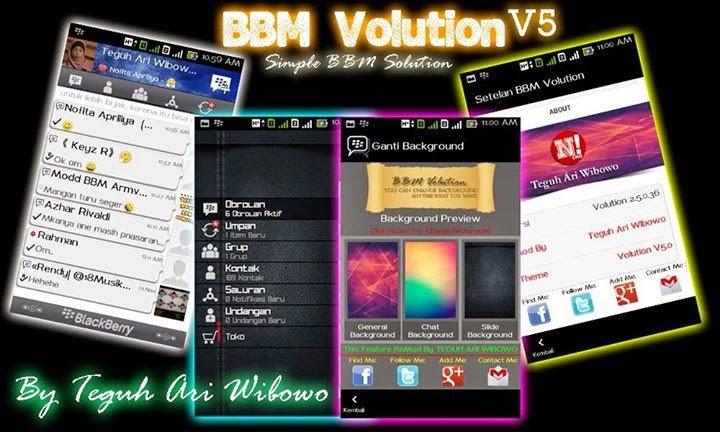 BBM Mod Volution 5.0 v2.5.0.36 Android + Change Background
