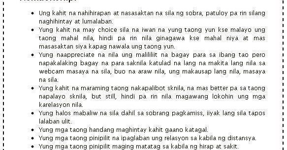 tagalog long distance relationships best quotes and