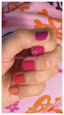 Ombre nails, The Lazy days of Summer nail challenge, magenta nails, hot pink nails, red-orange nails, coral nails, orange nails, flowers, skulls and cross bones, pink skulls, Julep Helena, Julep Drew, Julep Mandy, Julep Sasha, natural nail polish, big 3 free nail polish