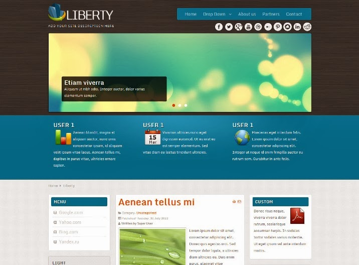 Free Corporate Joomla Template
