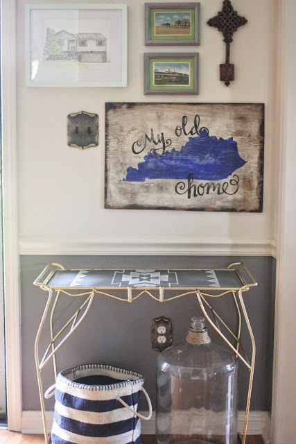DIY Painted Aztec Console Table by Craftivity Designs