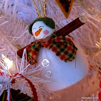 Snow Couple Ornaments
