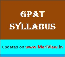 GPAT Syllabus, Exam Pattern