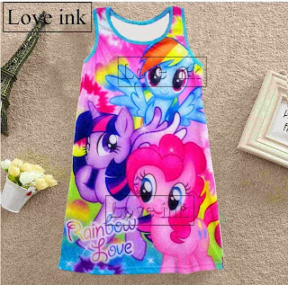 Dress Kids Little Pony - Baju Anak Love Ink - Harga Saudara