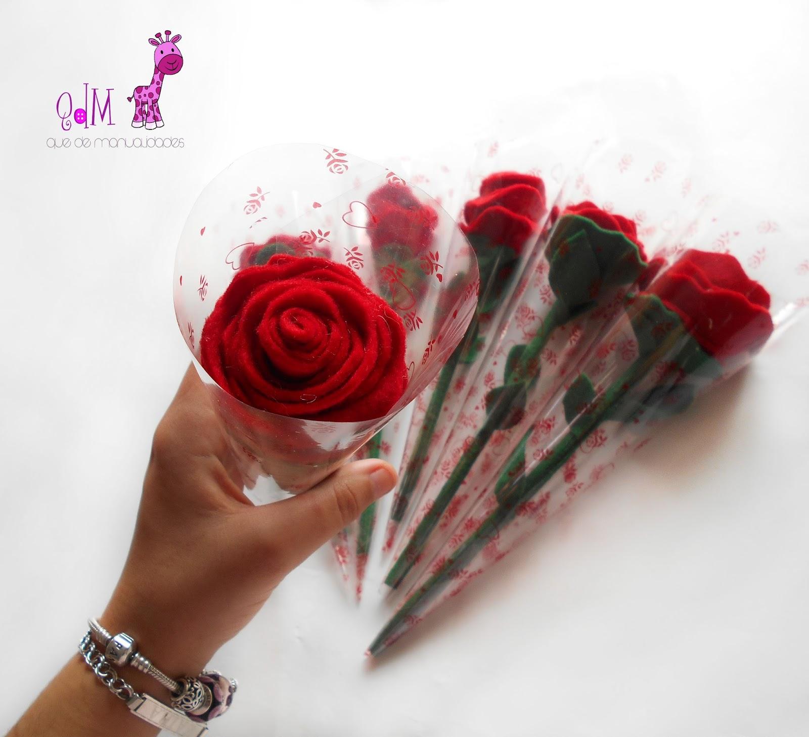 rosa fieltro