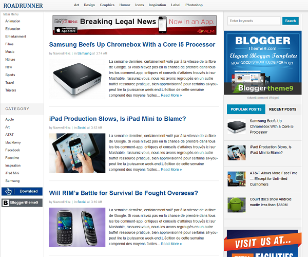 free blogger blogspot templates