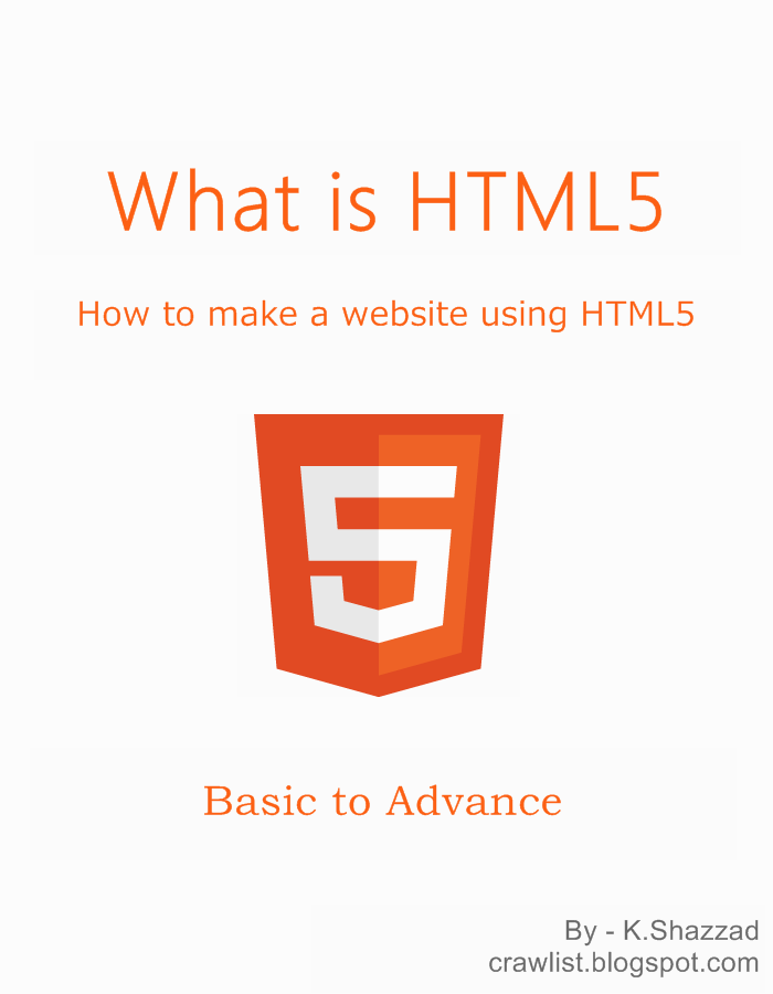 What is HTML5? How to make a website using HTML5? free eBook pdf download