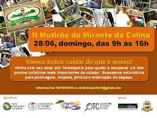 UERJ apresenta o Turismo Solidário em Teresópolis. II Mutirão da Colina do Mirante