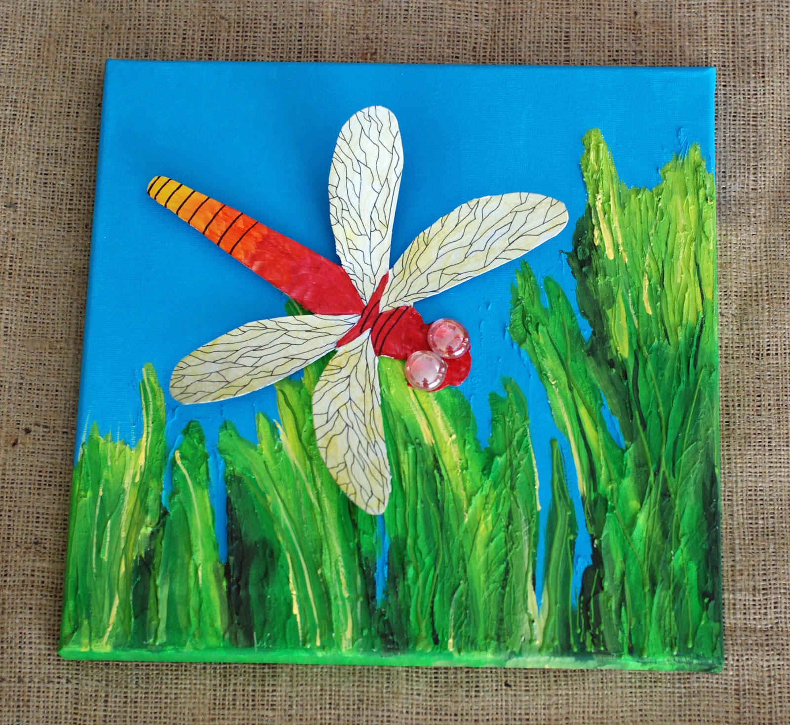 That artist woman dragonflies part 2 portraits for Painting craft projects
