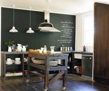 Peque os detalles martes deco una pared de pizarra en la - Pizarras de cocina ...