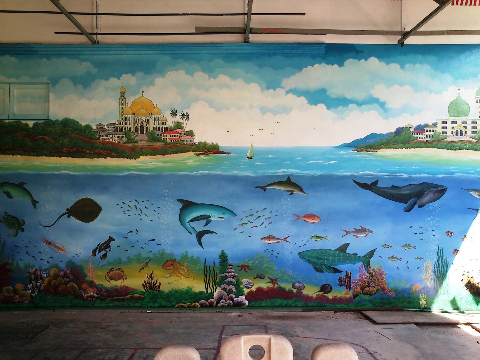 Mural art cetusan idea sample image mural marine life for Mural tadika