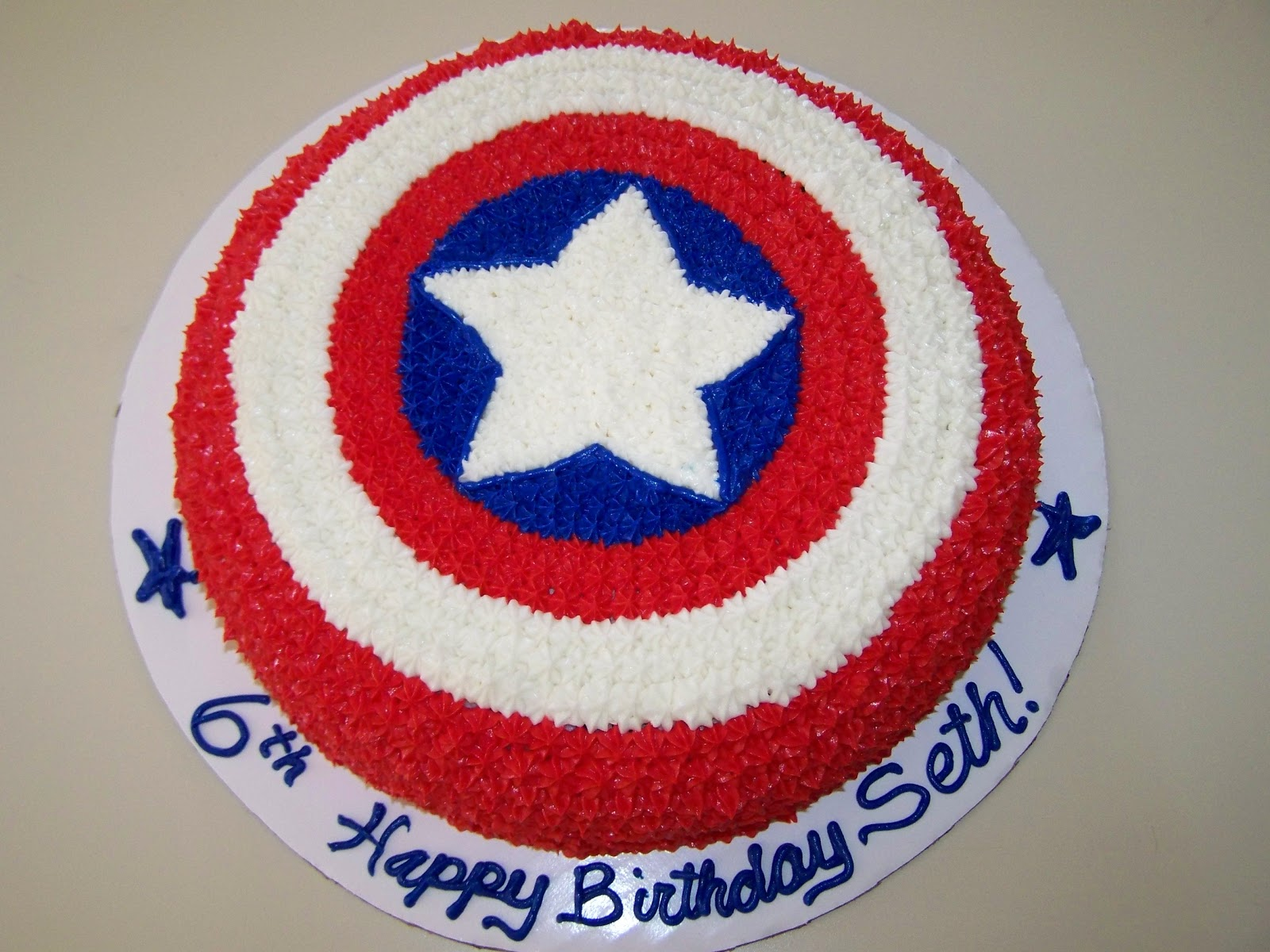 captain america cake ideas