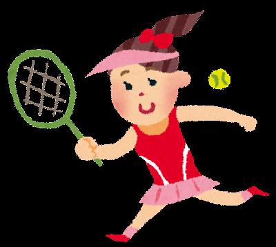オリンピックのイラスト「テニス」