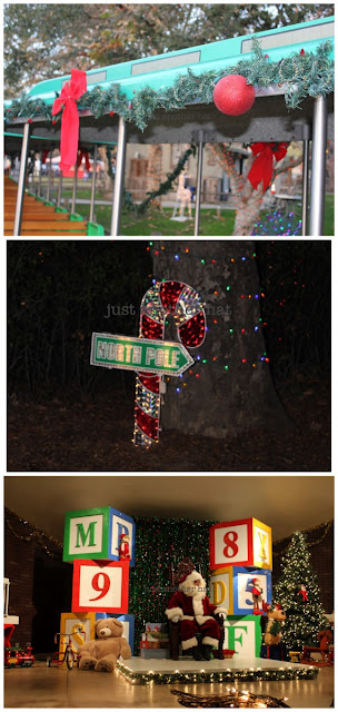 irvine park railroad christmas train and santa