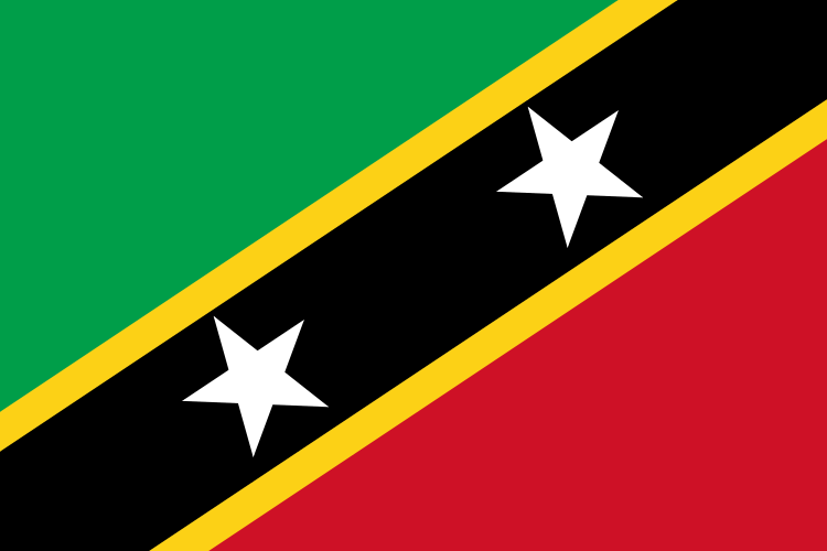 National Flag of Saint Kitts and Nevis