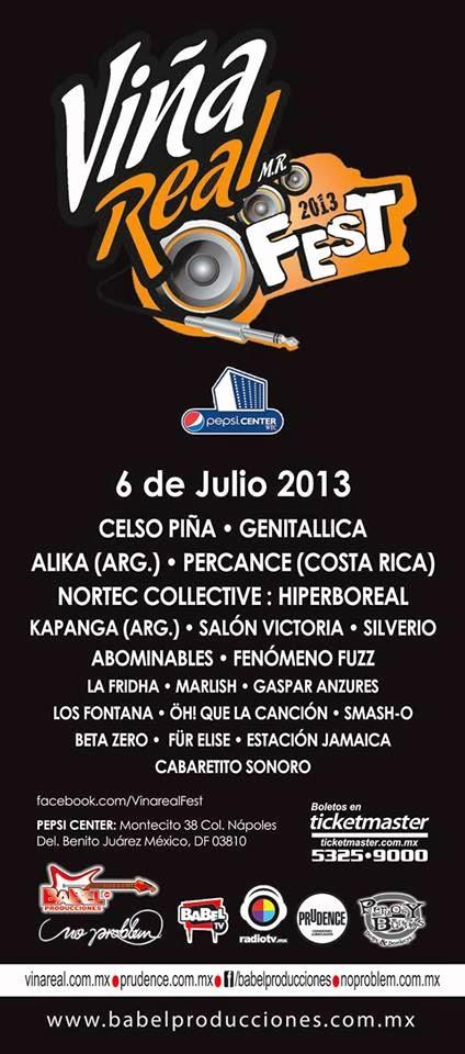 programa y costo de boletos del Viña Real Fest 2013