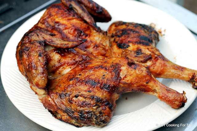 BBQ Grilled Butterflied Whole Chicken from 101 Cooking For Two