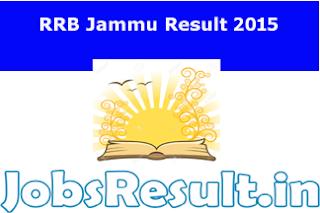 RRB Jammu Result 2015