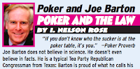 I. Nelson Rose vs. Joe Barton