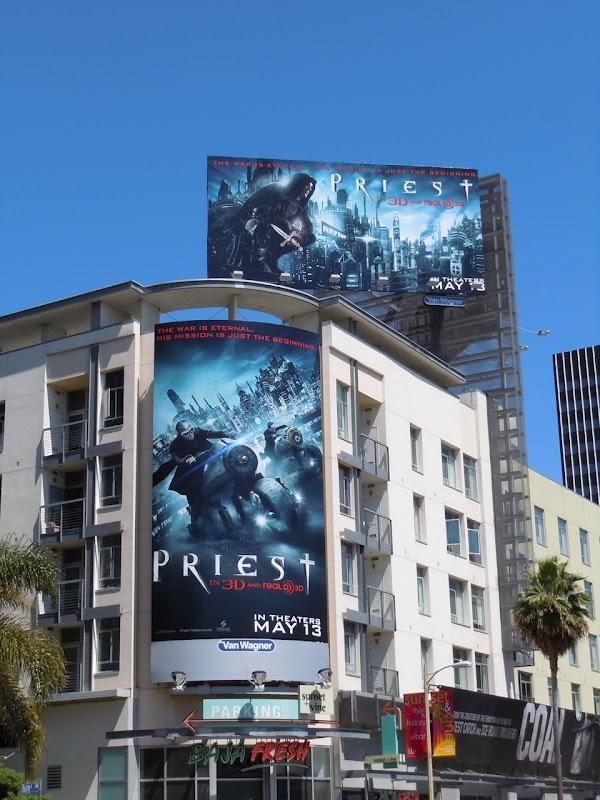 Priest movie billboards