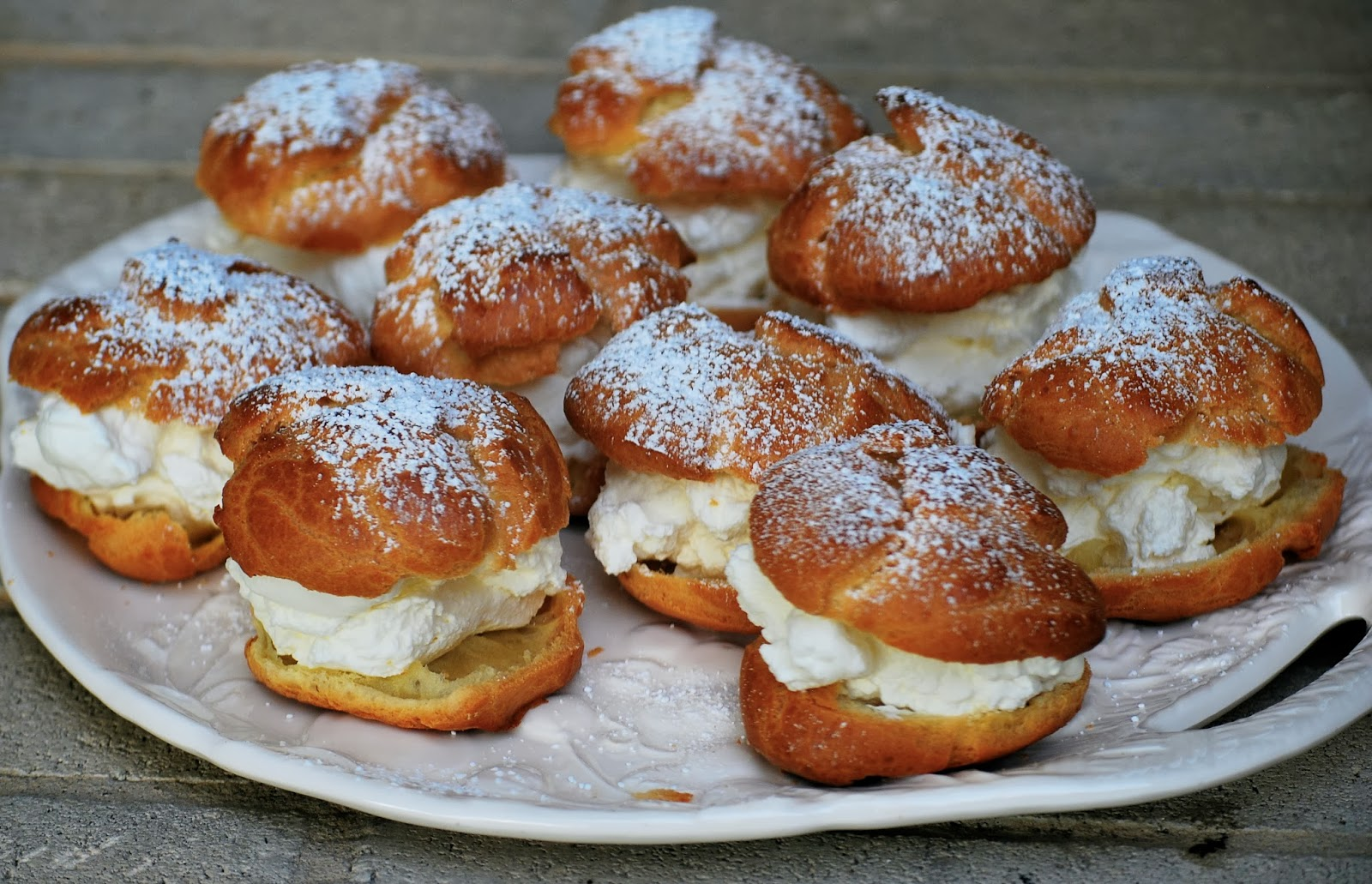 Pastry Cream Filling Filled With Whipped Cream
