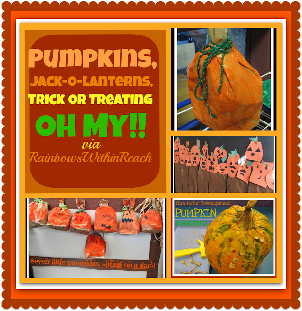 photo of: Pumpkins, Jack-o-Lanterns, Trick-or-Treating: OH MY! via RainbowsWithinReach