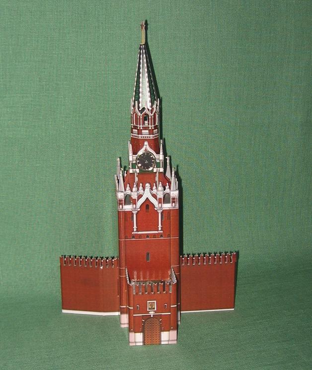 Как сделать макет из бумаги башни кремля