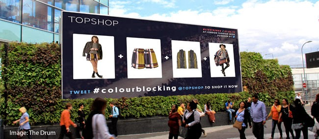 Topshop Will Be Launching a Digital Out of Home Advertising Campaign for London Fashion Week