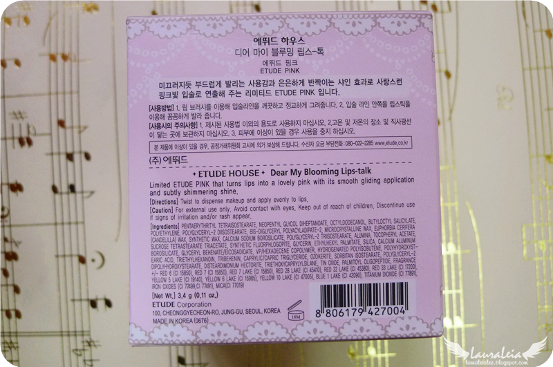 etude house my blooming lips etude pink limited edition