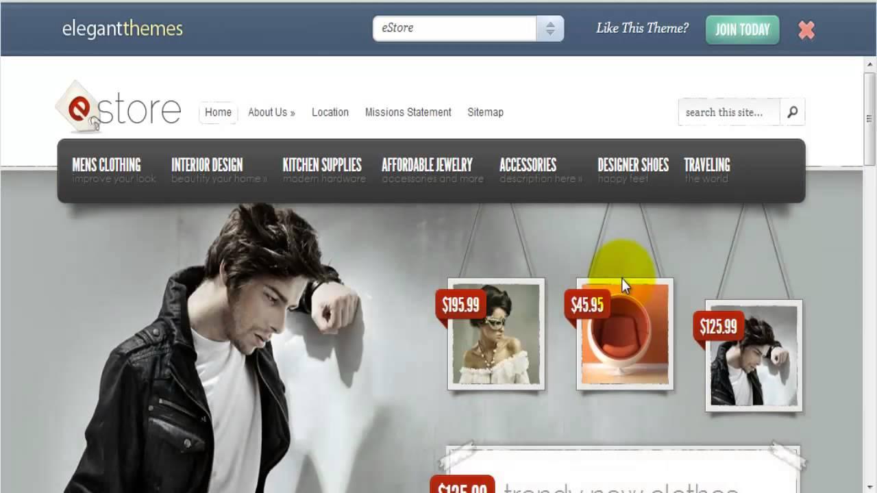 template responsivo para criar loja online