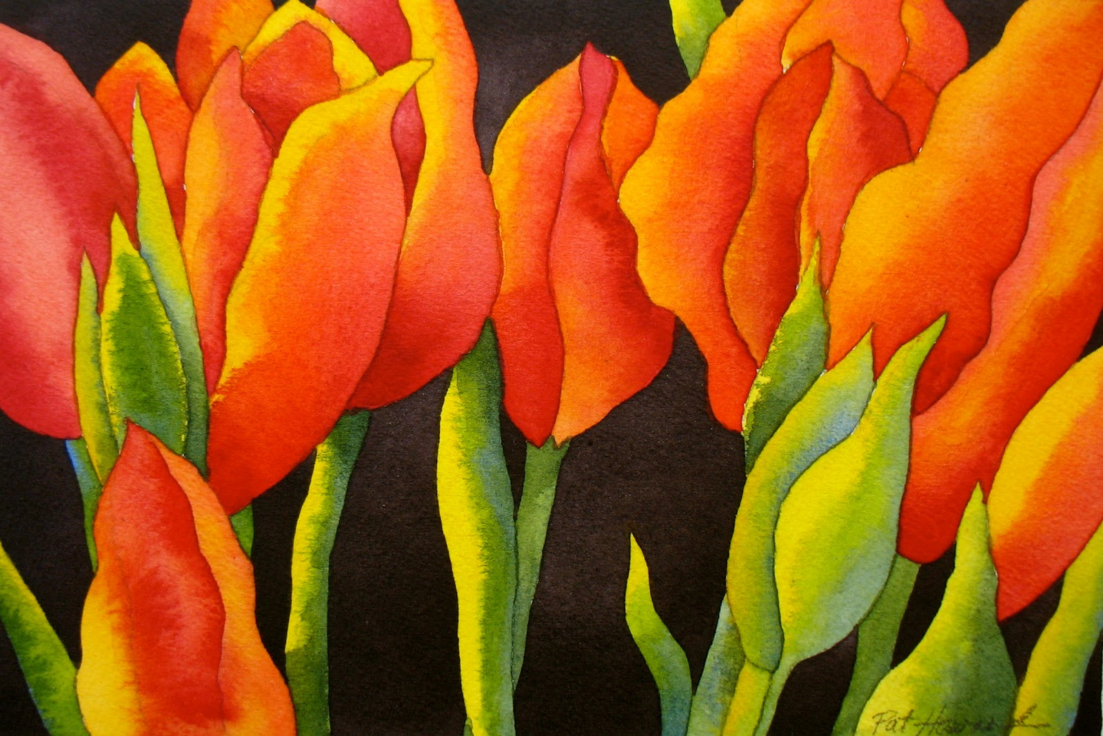 The painted prism watercolor project step by step red for How to paint watercolor flowers step by step