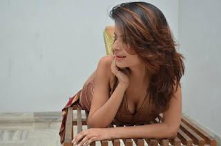 Actress Gehana Vasisth  Stills in Sleeveless Long Dress  252814.jpg