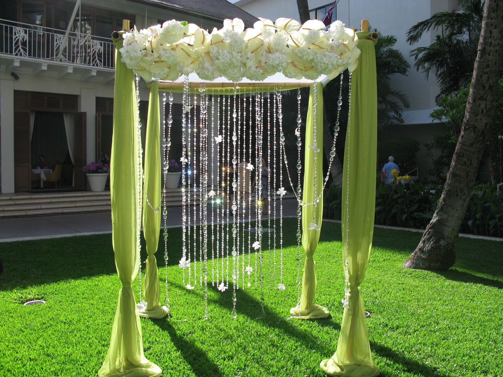 Wrapped couture gazebos tents at your wedding - Garden wedding decorations pictures ...