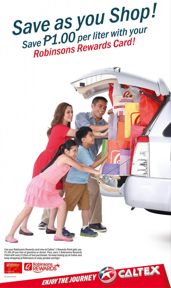 Caltex and Robinsons Rewards Card Promo