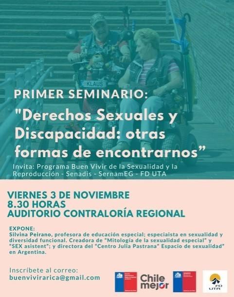 """PRIMER SEMINARIO: """"DERECHOS SEXUALES Y DISCAPACIDAD, OTRAS FORMAS DE ENCONTRARNOS"""