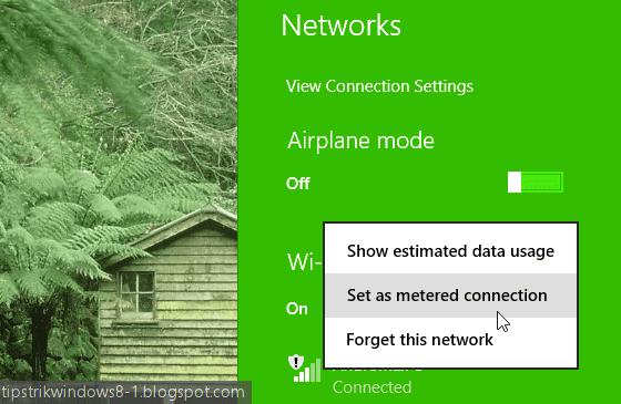 Apa Itu Metered Connection di Windows 8.1 dan Bagaimana Cara Mengaturnya? 2