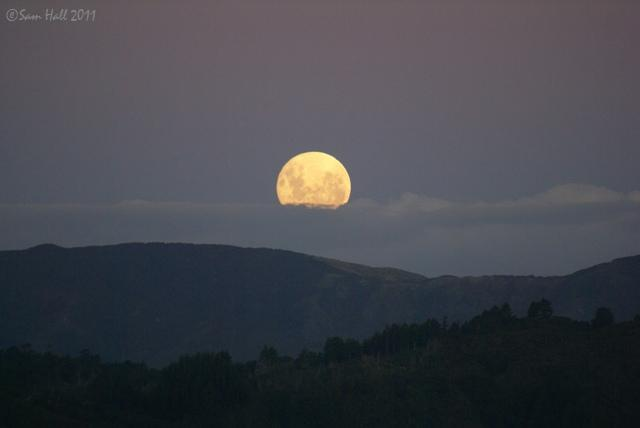 I Even Contrived To Catch The Moonrise Over Rimutaka Ranges As Day Ended Mostly Usual Click Embiggen