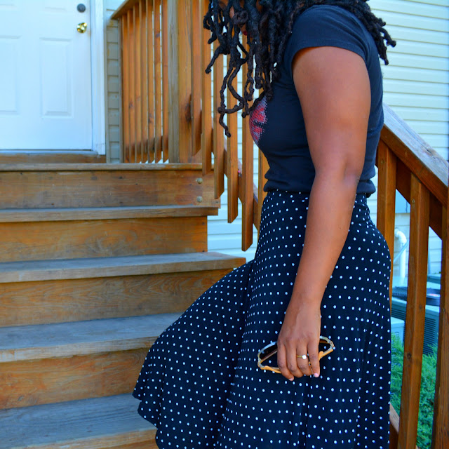 thrift and style a midi skirt