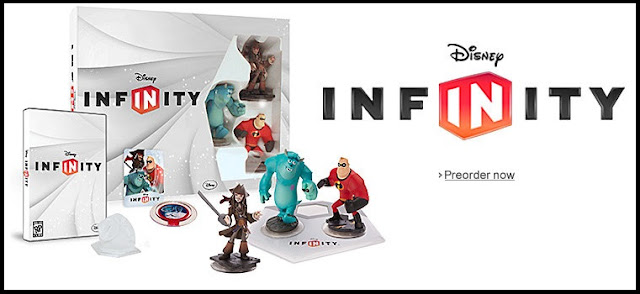 "Image of Disney Infinity Starter Pack with the words ""Pre-order now"" displayed"