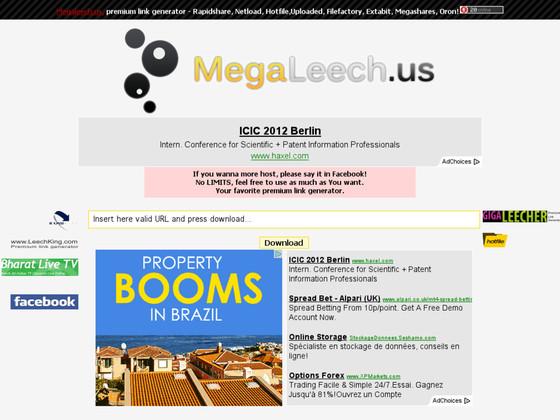 Megaleech - Free rapidleech premium link generator