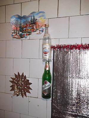Бутылки на стене