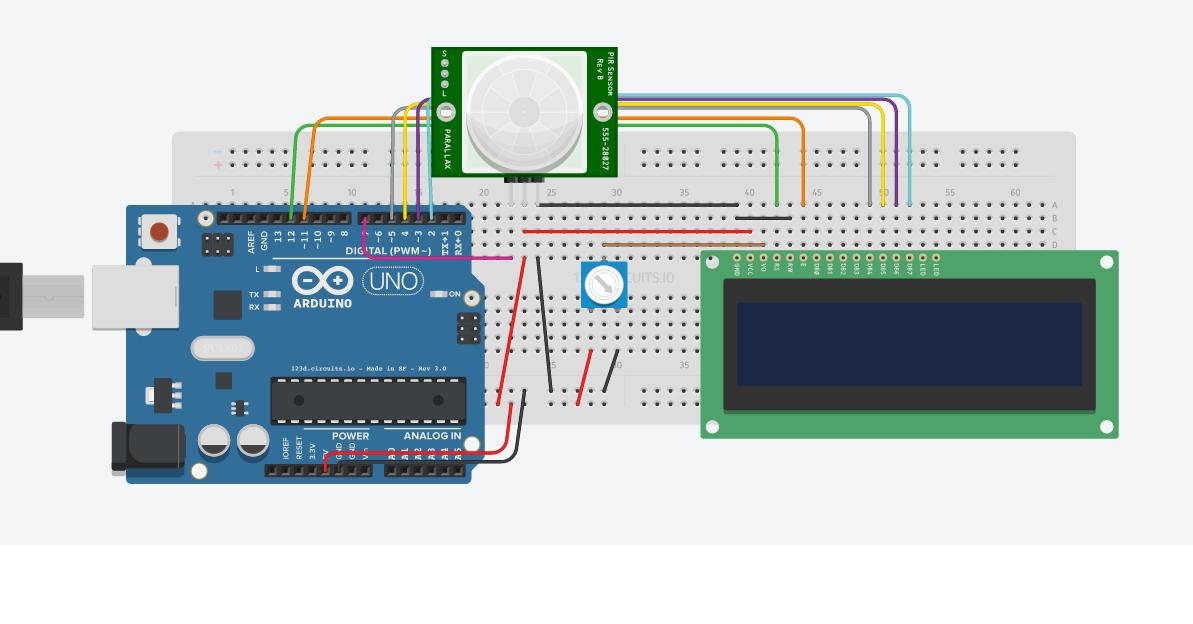 Image result for pir sensor using LCD