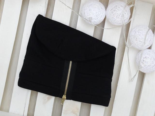 czapka dresowa czarna z zamkiem