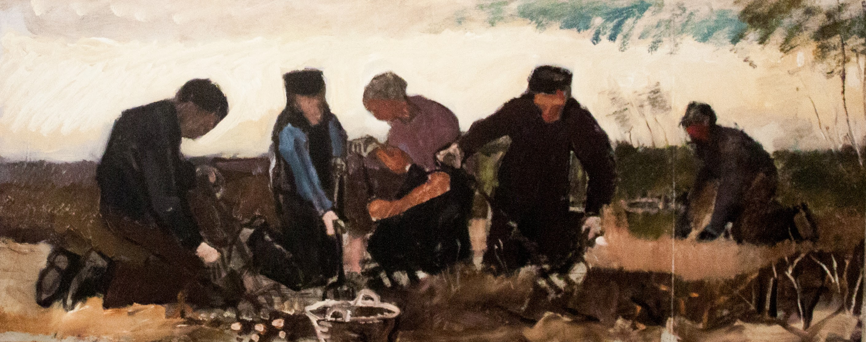 Potato Digging (Five Figures) by Vincent van Gogh, Digital Reconstruction