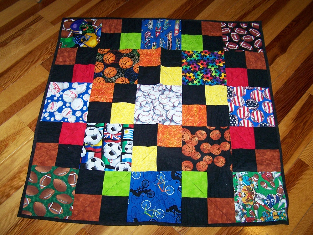 Quilt Patterns For Sports : Busy Hands Quilts: Sports Quilt