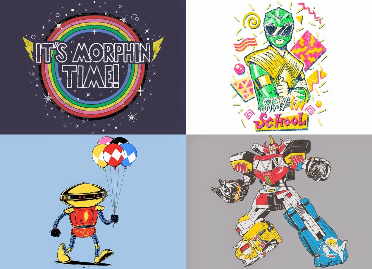 Mighty Morphin Power Rangers T-Shirt Collection by Threadless x Saban Entertainment