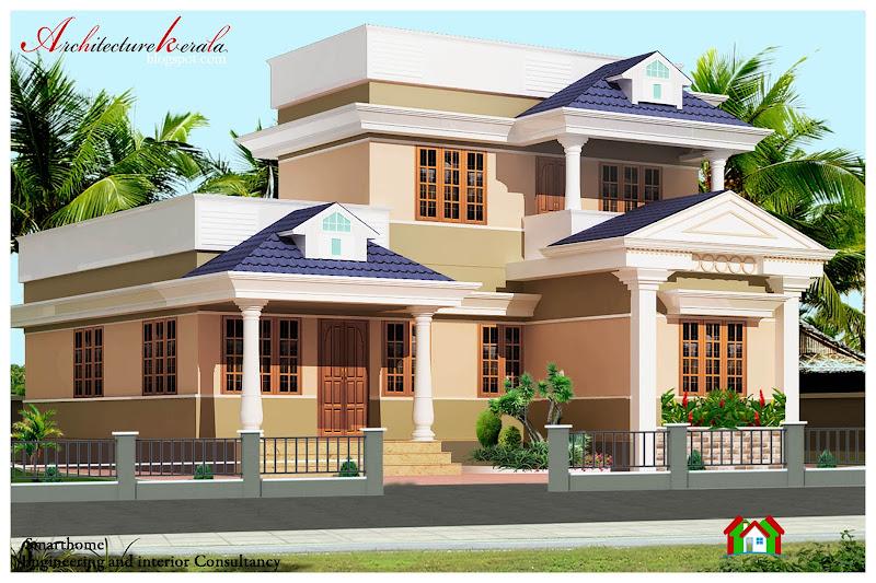 1388 SQFT kerala style house elevation title=
