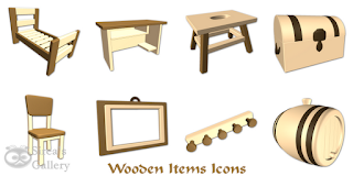 Wooden items Icons