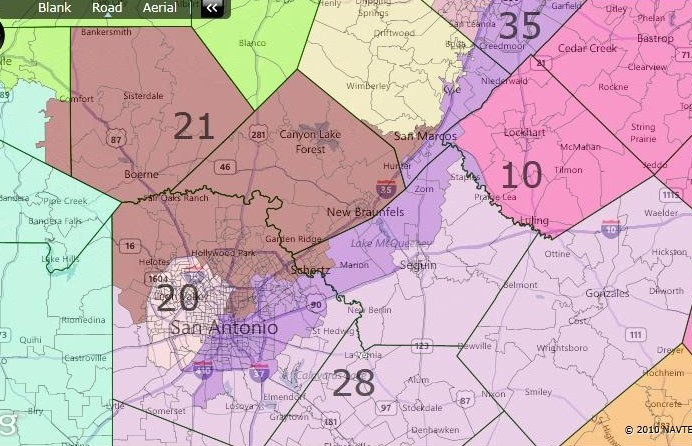 Races And Redistricting Texas Fair Redistricting Map - Texas us house district map